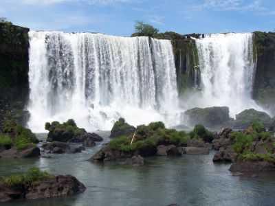 Wasserfälle in Brasilien und Argentinien