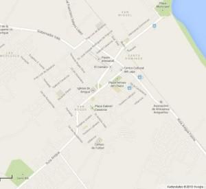 Stadtplan Aregua mit Cerro Koi